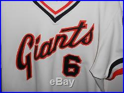 1982 San Francisco Giants Game Used Jersey