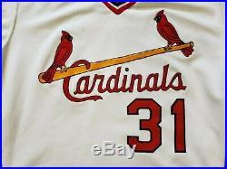 1983 Bob Forsch Game Worn St. Louis Cardinals Home Jersey