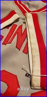 1983 Cincinnati Reds Mario Soto GAME USED WORN Jersey COA
