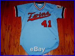 1983 Game Used Tom Kelly Minnesota Twins Vintage Jersey Worn Vikings Flannel Vtg