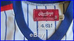 1983 New York Mets Bob Bailor Game Worn Used Baseball Jersey