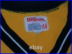 1983 Pittsburgh Pirates Gold Game Worn Used Uniform Jose DeLeon Vargas Hendrick