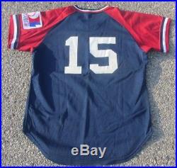 1983 Toledo Mud Hens Vintage Game Used Worn Baseball Jersey Dave Baker Twins