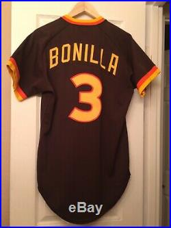 1983 san diego padres jersey/ game used worn juan bonilla