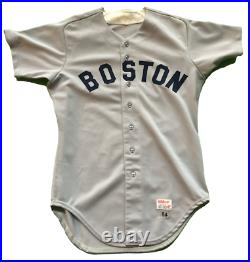 1984 Boston Red Sox Wade Boggs Game Worn Used Baseball Jersey