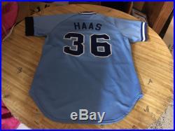 1984 Eddie Haas Atlanta Braves Original Game Worn Major League Baseball Jersey