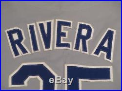 1984 Game Used Worn Dodgers Jersey Road Gray size 42 Rivera #25 Olympics patch