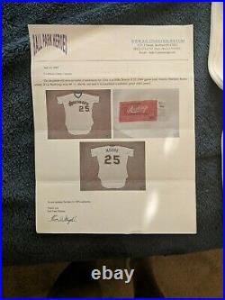 1984 Seattle Mariners Game Worn Mike Moore #25 Jersey