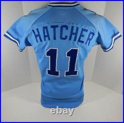 1985-87 Greenville Braves Jon Hatcher #11 Game Used Blue Jersey DP06081