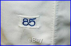 1985 Albert Hall Game Worn Atlanta Braves Home Jersey #2 Wilson Size 40