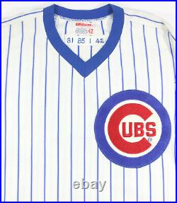1985 Ray Fontenot Game Used Chicago Cubs Pin-stripe Vintage Home Jersey