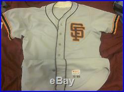 1985 San Francisco Giants Game Used Jersey #14 Vida Blue Autographed