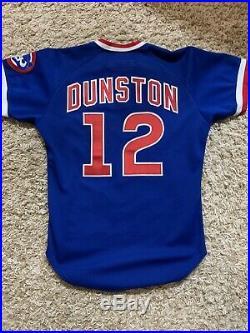 1986 Chicago Cubs Shawon Dunston Game Used Jersey & Pants / Road Uniform Set 1