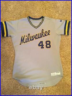 1986 Milwaukee Brewers Game Jersey