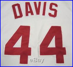 1987 Eric Davis Game Used Cincinnati Reds Home Jersey 30/30 Season