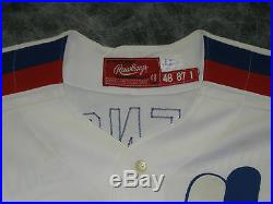 1987 Montreal Expos, vintage game used / worn, home jersey. Lary Sorenson