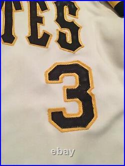 1987 Set 1 Johnny Ray Pittsburgh Pirates Game Used Baseball Jersey Mlb