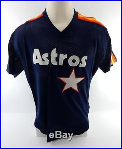 1988 Houston Astros Hal Lanier #22 Game Used Blue Jersey