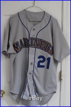 1989 Alvin Davis Seattle Mariners Game Used Road Jersey, SZ 44, Set 1