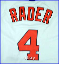 1989 California Angels Doug Rader #4 Game Used Grey Jersey All Star Game Patch