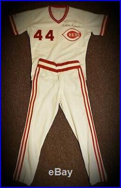 1989 Cincinnati Reds Eric Davis signed GAME USED WORN jersey uniform AUTO LOA