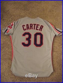 1989 Joe Carter Game Used Worn Cleveland Indians Jersey Uniform