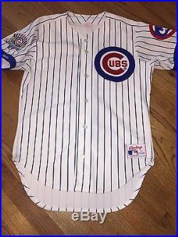 1990 Chicago Cubs Ryne Sandberg Rawlings Home Jersey Size 42