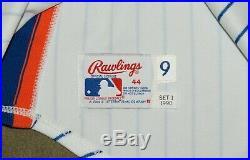 1990 New York Mets Gregg Jefferies Game Used Worn Jersey Signed Scoreboard PSA