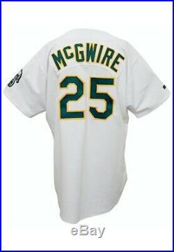 1990s Mark McGwire Game Worn Oakland Athletics Signed Jersey GF + JSA LOAs