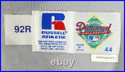 1992 New York Mets Rodney McCray #13 Game Issued Pos Used Grey Jersey Shea Patch