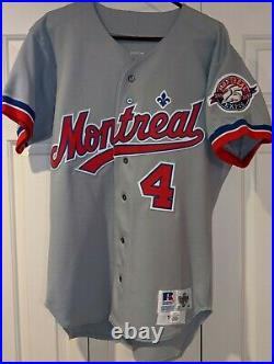 1993 Delino Deshields Montreal Expos game road jersey- 25th Anniversary patch