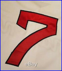 1993 Kenny Lofton Game Used Cleveland Indians Turn Back the Clock Jersey to 1954