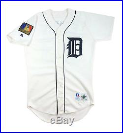 1994 Eric Davis Detroit Tigers Game Used Worn Jersey 125th Anniv. Patch Reds