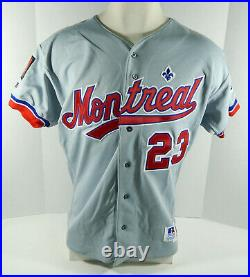 1994 Montreal Expos Mike Hardge #23 Game Issued Grey Jersey 125th Patch