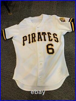 1994 Orlando Merced Pittsburgh Pirates Game Used Jersey Home Rawlings Set 1 Pb