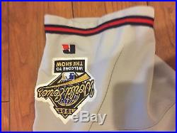 1995 Chipper Jones Atlanta Braves World Series Game Worn Used Road Jersey
