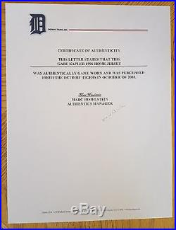 1996 Detroit Tigers Game Used Home Jersey Gabe Kapler Jewish