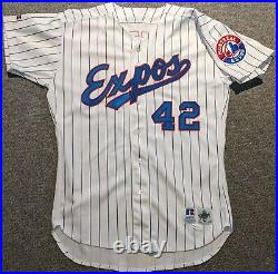 1996 Kirk Rueter game used Montreal Expos #42 jersey