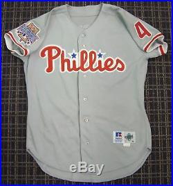 1996 Lenny Dykstra Game Used Philadelphia Phillies Jersey Last Season HAMMERED