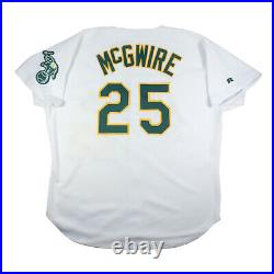 1996 Mark Mcgwire Game Used Oakland Athletics A's Jersey Grey Flannel Loa