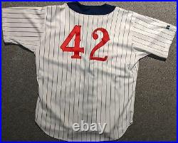 1996 Tom Urbani game used Detroit Tigers (Stars) TBC Negro League #42 jersey