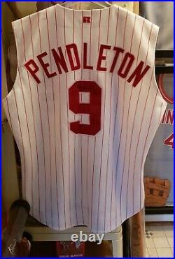1997 Cincinnati Reds Terry Pendleton GAME USED Worn jersey Jackie Robinson