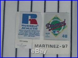 1997 New York Yankees game used home jersey Tino Martinez # 24 Jackie Robinson