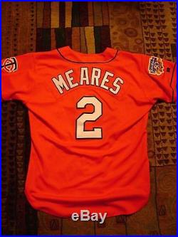 1997 Pat Meares Red Dairy Queen Minnesota Twins Game Worn Used Jersey Team LOA
