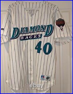 1998 Andy Benes game used Arizona Diamondbacks jersey- Inaugural Season Patch