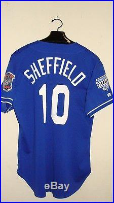 1998 Gary Sheffield Los Angeles Dodgers Game Used BP Jersey