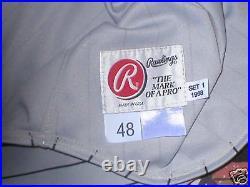 1998 JASON SCHMIDT Pittsburgh Pirates game used worn pinstriped jersey COA
