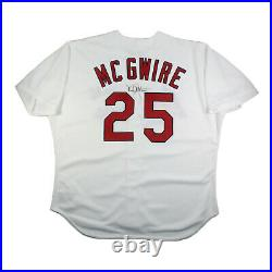 1998 Mark Mcgwire Signed Game Used St. Louis Cardinals Jersey 70hr Season