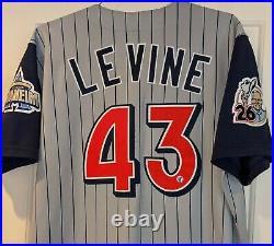 1999 Al Levine Anaheim Angels game used/worn jersey Gene Autry 26th man patch
