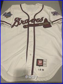 1999 Atlanta Braves Randall Simon Game Worn/Used Jersey SZ 48 XL